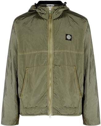 Stone Island Olive Hooded Shell Jacket