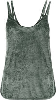 Lot 78 Lot78 - Sleeveless Velvet Top with Cut-Out Sides - women - Polyester/Viscose - XS