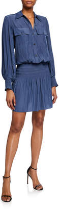 Ramy Brook Harper Smocked Shirtdress