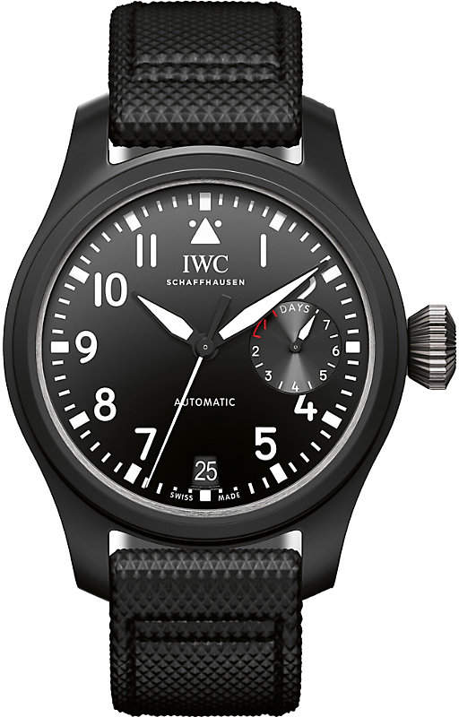IWC IW502001 Pilot leather and ceramic watch