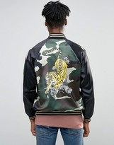 Jaded London Camo Souvenir Bomber Jacket