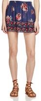 Joie Turnley Printed Silk Skirt