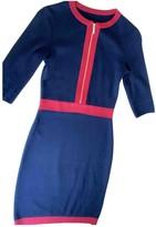 Carolina Herrera Blue Wool Dress for Women