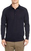 Gant Men's Trim Fit Merino Wool Polo Sweater