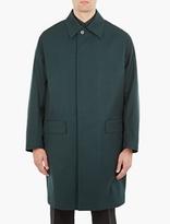 Marni Green Single-breasted Wool Mac