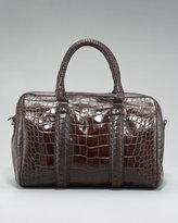 Natalie Croc-Embossed Bag