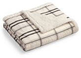 Martha Stewart Collection CLOSEOUT! Martha Stewart Collection Classic Reversible Micromink Faux Sherpa Throw