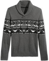 American Rag Men's Snowflake Geo Shawl-Collar Sweater, Only at Macy's