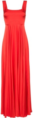 SOLACE London Naie satin maxi-dress