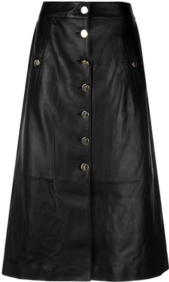 Temperley London Midnight leather skirt