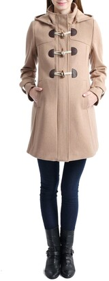 Kimi and Kai Paisley Wool Blend Maternity Duffle Coat