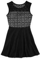 Aqua Girls' Lace Mix Skater Dress, Big Kid - 100% Exclusive