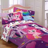 My Little Pony Hasbro Ponyfied 4-Piece Reversible Twin Comforter Set in Purple
