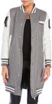 Members Only Longline Varsity Jacket