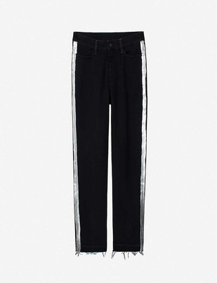 Zadig & Voltaire Deana straight mid-rise stretch-denim jeans