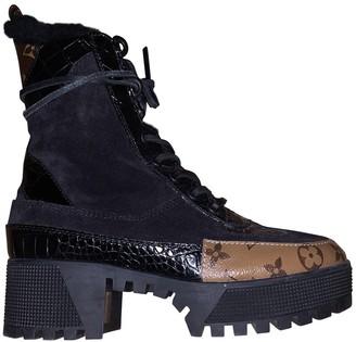 Louis Vuitton Laureate ankle Black Leather Ankle boots