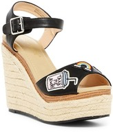 Chase & Chloe Lacy Patch Applique Espadrille Wedge Sandal