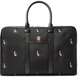 Thom Browne Leather-Trimmed Penguin-Embroidered Nylon Holdall