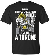 Emily Gift Shop Vegeta Super Saiyan T-Shirt | I Know There'S A Special Place-Unisex