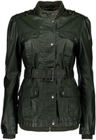 Maverick Olive Belted Funnel Collar Jacket