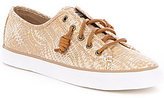 Sperry Seacoast Snake Print Canvas Lace-Up Sneakers