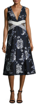 ABS by Allen Schwartz Floral Printed A Line Dress