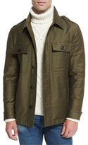 Tom Ford Protester Shirt Jacket, Olive