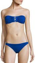 Proenza Schouler Two-Piece Solid Bandeau Bikini