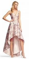 Aidan Mattox A-line High-low Vintage Floral Print Evening Dress