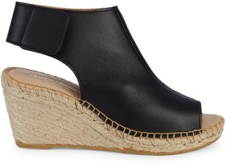 Andre Assous Flora Leather Wedge Espadrilles