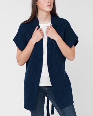 Beaumont Organic Navy Dora Knitted Cardigan - S - Blue