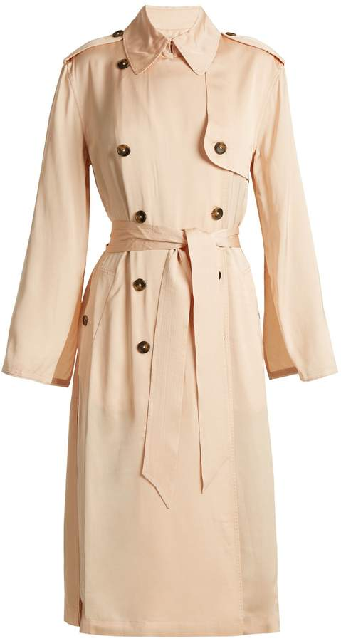 Elizabeth and James Aaron double-breasted tie-waist trench coat
