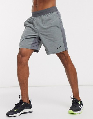 Nike Training Nike Yoga flex shorts in grey