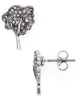 Marc Jacobs Pavé Tree Stud Earrings