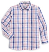 Nordstrom Plaid Cotton Poplin Dress Shirt (Toddler Boys, Little Boys & Big Boys)