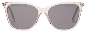 Saint Laurent Cat-eye Clear-acetate Sunglasses - Clear