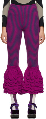 Paula Canovas Del Vas Purple Rib Knit Pants