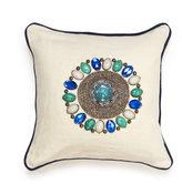 Jonathan Adler Jaipur Studded Beaded Linen Throw Pillow