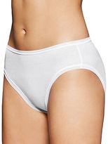 Fine Lines Pure Cotton Hi Cut Brief Panties