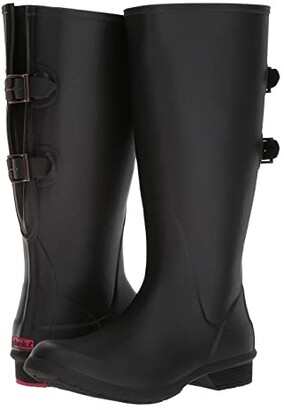 Chooka Versa Wide Calf Tall Boot (Black) Women's Rain Boots