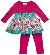 Rare Editions Baby Girl Knit & Corduroy Top & Leggings Set