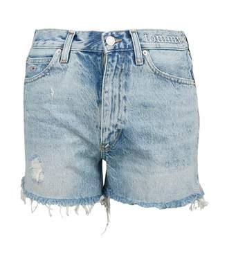 Tommy Jeans Distressed Denim Shorts Colour: LIGHT BLUE, Size: 25R