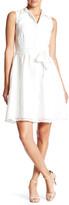 Donna Ricco Sleeveless Collared Tie Dress (Petite)