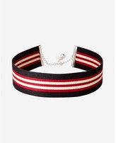 Express sporty striped choker necklace
