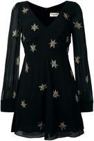 Saint Laurent star embellished mini dress - women - Silk/Cotton - 36