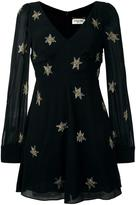 Saint Laurent star embellished mini dress - women - Silk/Cotton - 38