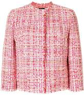 Alexander McQueen cropped tweed jacket