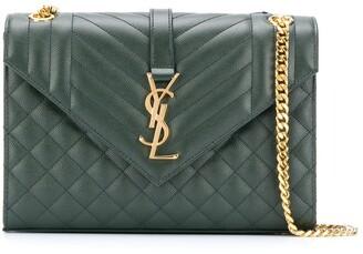 Saint Laurent Quilted Envelope Shoulder Bag