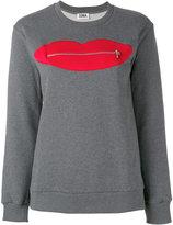 Sonia By Sonia Rykiel - Zip Lips sweatshirt - women - Cotton - XS