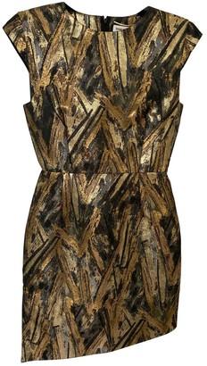 Saint Laurent Gold Polyester Dresses